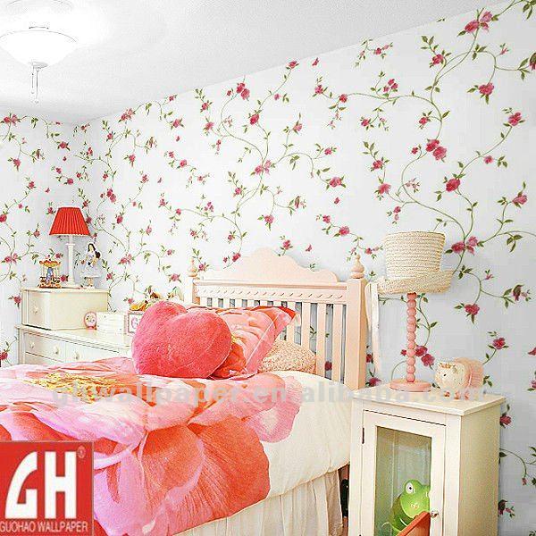 Bedroom_Small_Red_Flower_Wallpaper