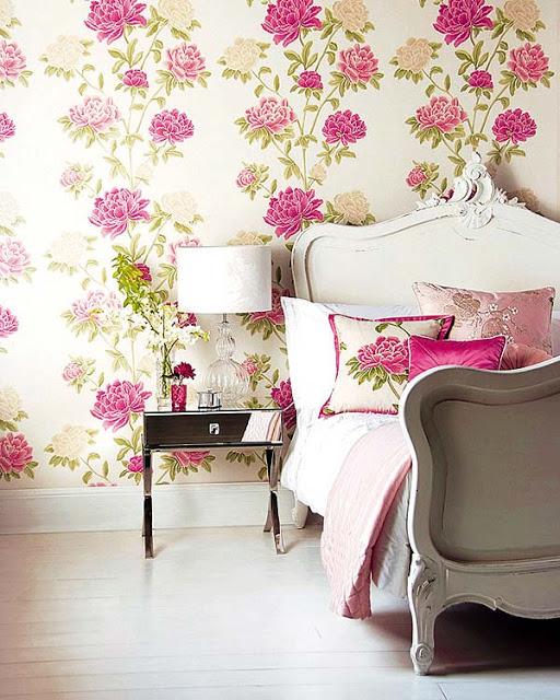 papel-de-parede-floral-quarto