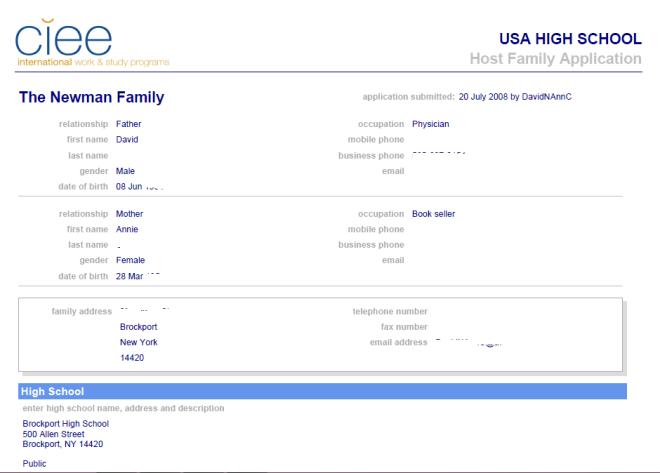 application host family 1